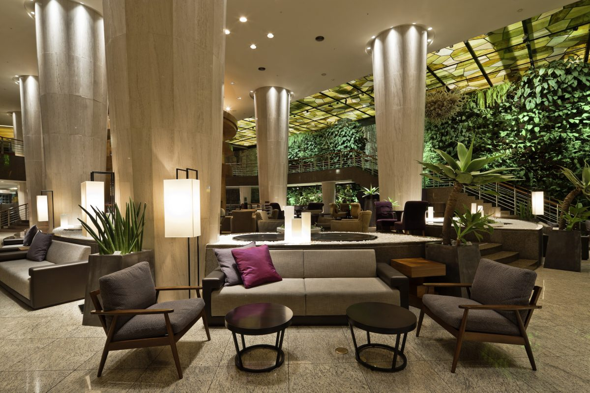 The sheraton hotel lobby interior for Hotel design 06